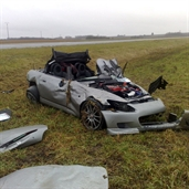 Honda s2000 lost control and rolled over