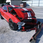 2012 Ford Mustang accident in tennessee