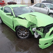 Imagine,,,2013 Mustang in accident Detroit