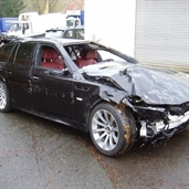 BMW M5 Touring accident