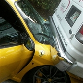 Ferrari F430 accident