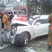 Camaro bad crash in Ohio, and guess what, the driver is alive