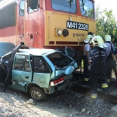 Train crashed suzuki