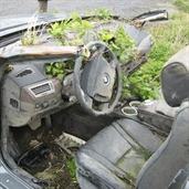 BMW 740 abandoned after fatal crash