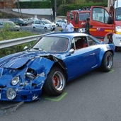Alpine A110 and Renault Mégane accident