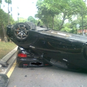 Car park jockey crashed Nissan GT-R R35 in Malaysia