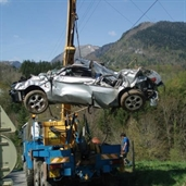 Peugeot 307 accident in france