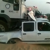 18 Wheeler crashed into a pickup truck in saudi arabia