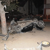 Toyota celica crash into a old big tree