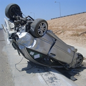 Mercedes accident in the sixth ring road in kuwait