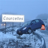 Driver lost control in the snow