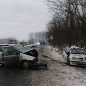Renault and Fiat  accident in hungary