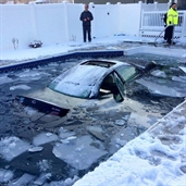 Two Teens Crash a Lexus ES Into A Pool