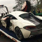 McLaren 570S wrecked in China