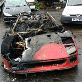 Ferrari F40 Burns