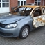 2009 VW golf in fire