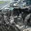 18 wheeler crashed into Mitsubishi pajero