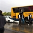 Toyota corolla crashed into university bus in jordan