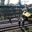 Train crashed a bus in Ukraine
