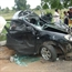 Crushed Toyota Corolla Car Accident With Indian Lorry Truck