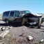 Lucky Driver on Chevy Tahoe hit the guard rail