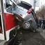 Train hits mini van in Russia