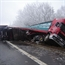 18 wheeler lost control on icy road in france