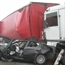BMW Smashed by two 18 wheelers in france
