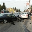 Saab crashed in 2 cars, smart car and skoda in hungary