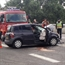Renault & Peugeot accident in highway in france