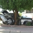 Jaguar driver crashed into a tree in kuwait