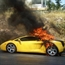 Lamborghini on fire in france