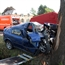 Opel crashed into a tree in germary