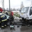 Peugeot 206 and Dawoo truck head-on crash