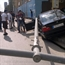 BMW driver in lebanon hits the power pole in al Hamra Street