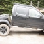 Nissan Navara D40 with broken chassis