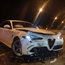 AlfaRomeo Giulia Quadrifoglio crashed in Switzerland